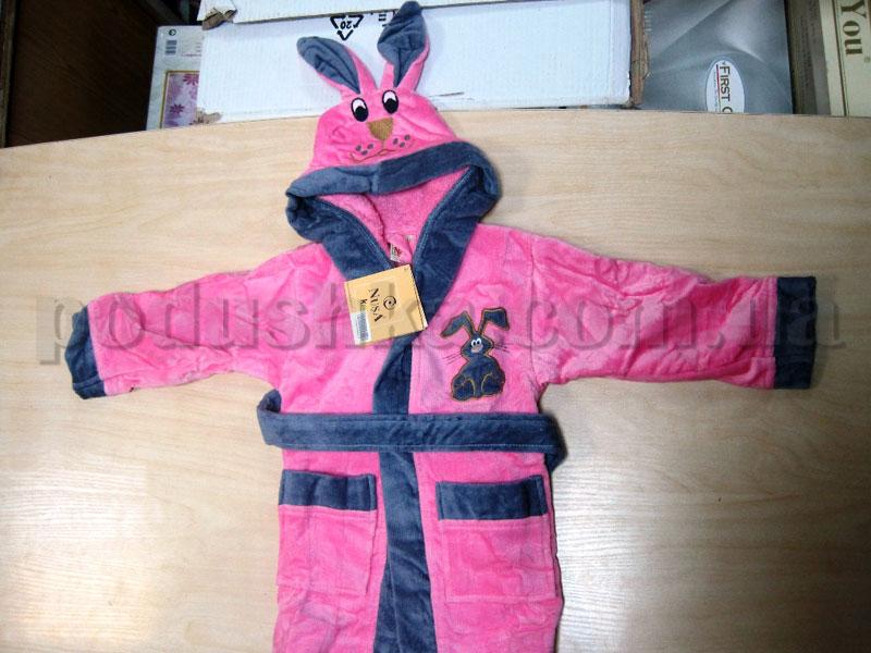 Халат детский Nusa 1-2 года розовый