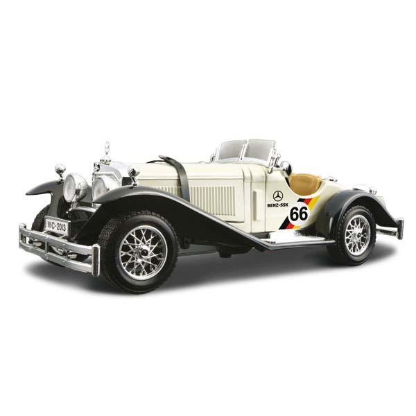 Автомодель - Mercedes-Benz TYP SSK (1928) (серебристый, 1:24)