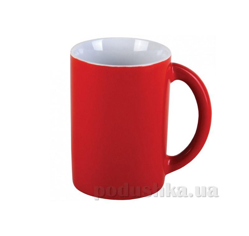 Чашка керамическая МД 350 мл KB847 красно-белая   MД