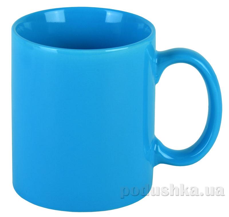 Чашка керамическая МД 350 мл KD400-4/6 голубая глянцевая   MД
