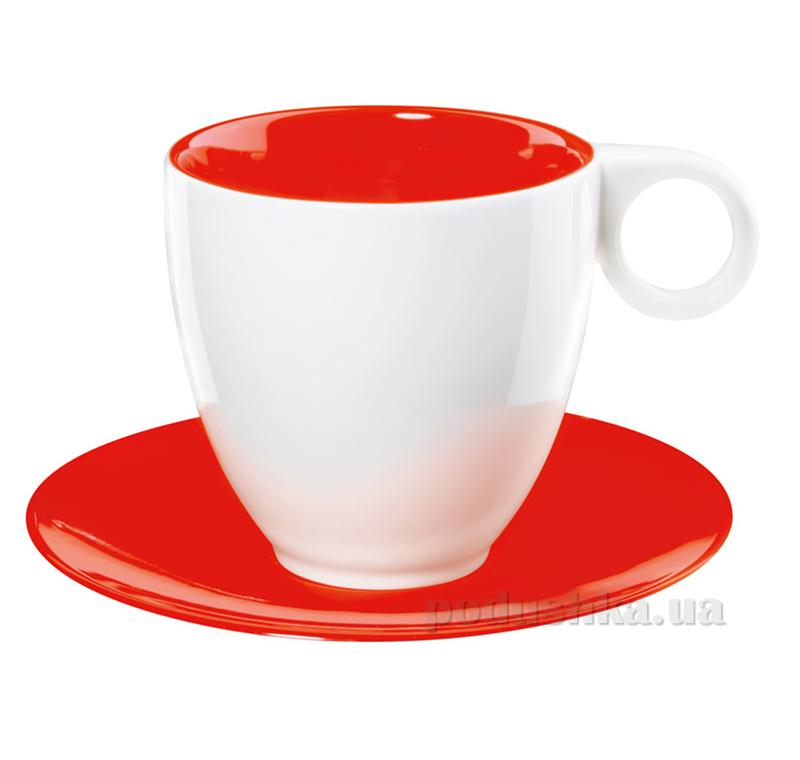 Чашка с блюдцем Color It Asa Selection красная