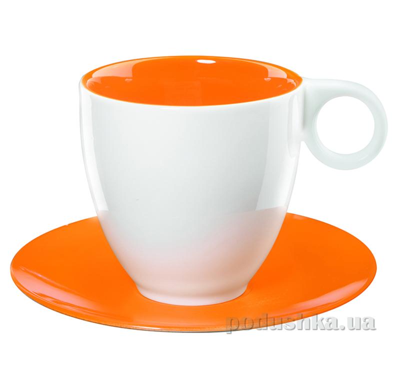 Чашка с блюдцем Color It Asa Selection оранжевая
