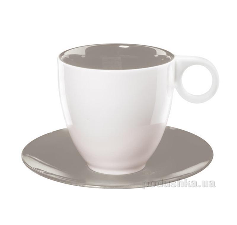 Чашка с блюдцем Color It Asa Selection серая