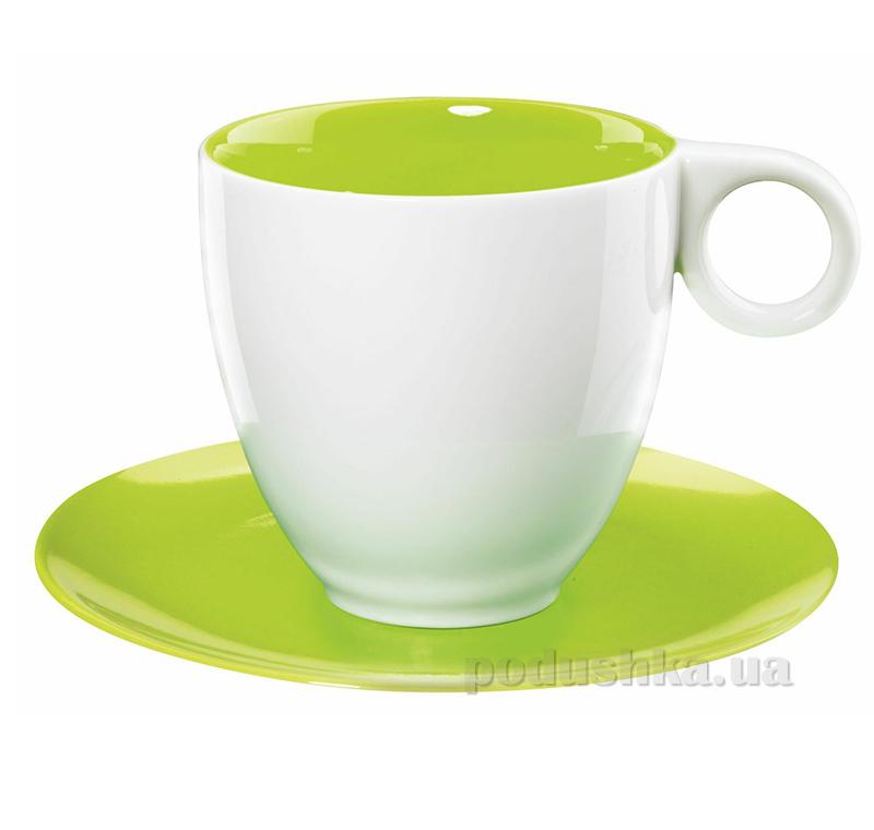 Чашка с блюдцем Color It Asa Selection зеленая