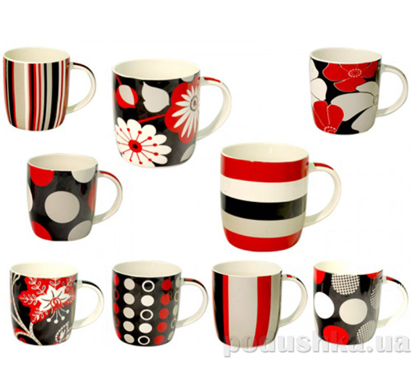 Чашка S&T Красное и черное 360 мл ST 2183   S&T