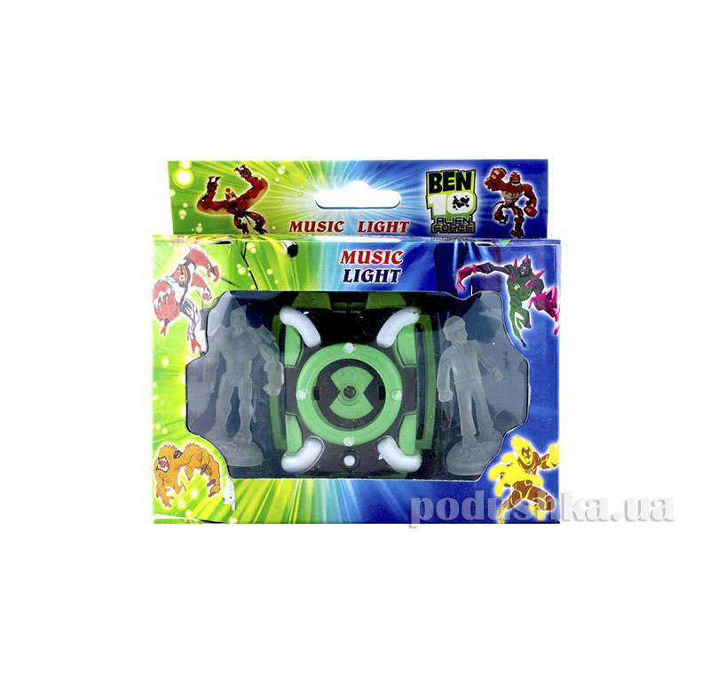 Часы Alien Force зелёные c проектором и двумя фигурками BEN-10 222-d