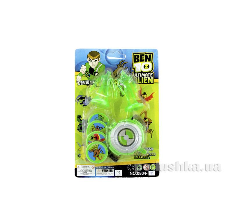 Часы c 2-мя зелеными фигурками Ultimate Alien Ben 10 0804-5
