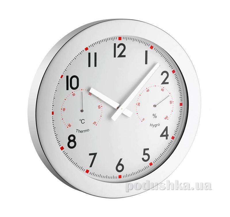 Часы настенные TFA XXL 603005 с термометром и гигрометром