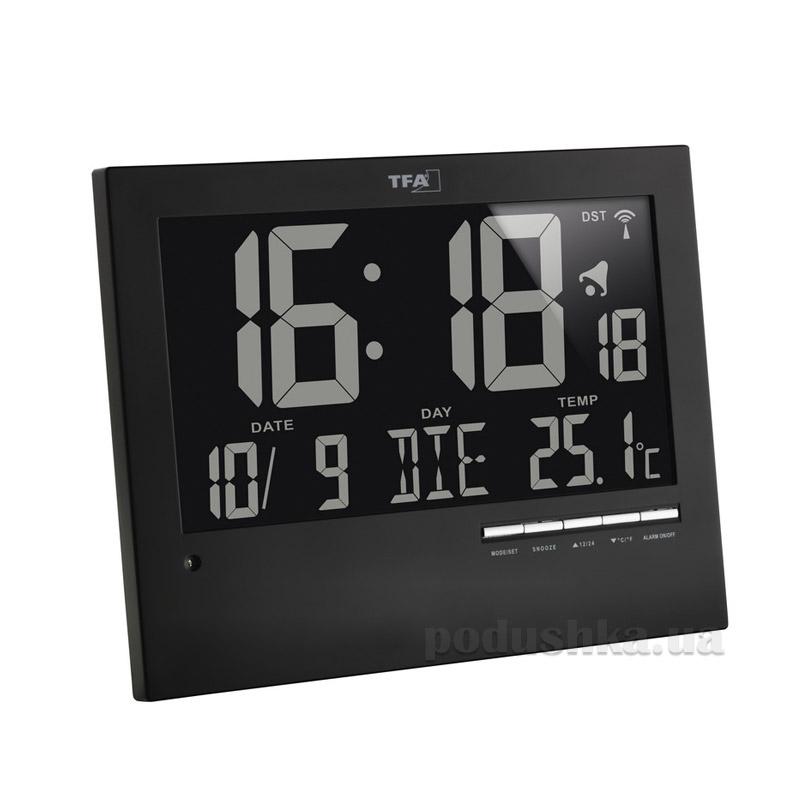 Часы настенные цифровые TFA 604508 с автоматическим подсвечиванием