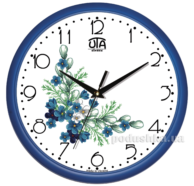Часы настенные ЮТА Классика 300х300х45мм 01 Bl 27