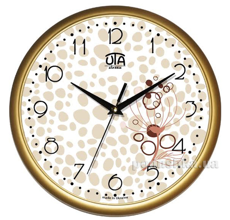 Часы настенные ЮТА Классика 300х300х45мм 01 G 34