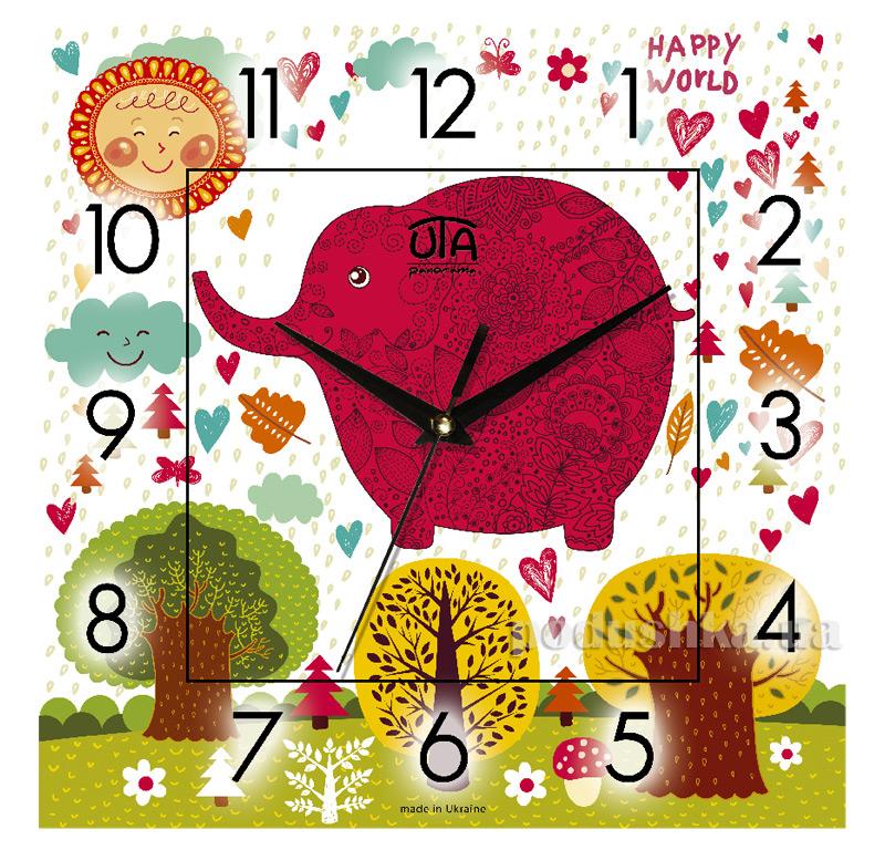 Часы настенные ЮТА Панорама 300Х300Х16мм CH 001