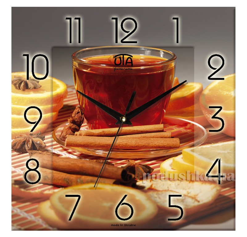 Часы настенные ЮТА Панорама 300Х300Х16мм K - 017