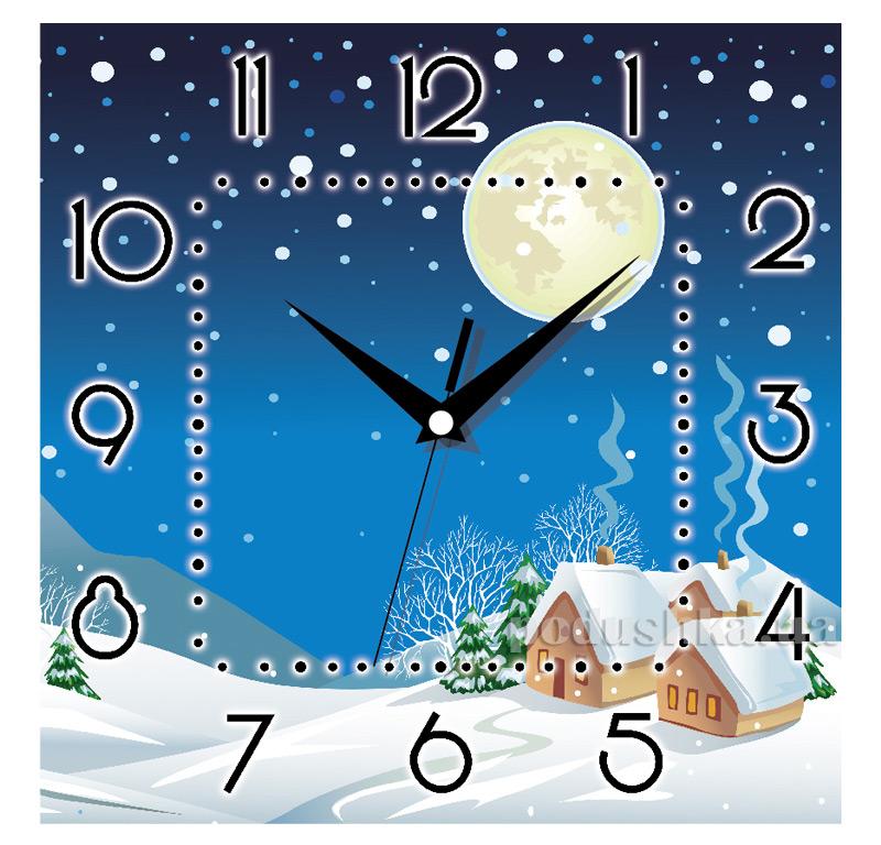 Часы настенные ЮТА Панорама 300Х300Х16мм NY - 001