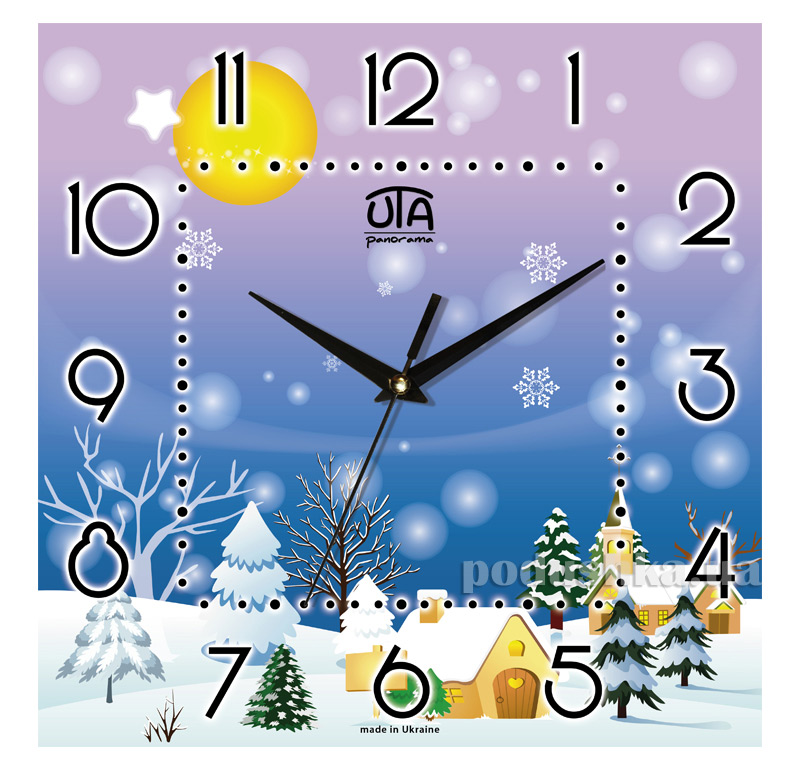 Часы настенные ЮТА Панорама 300Х300Х16мм NY - 005