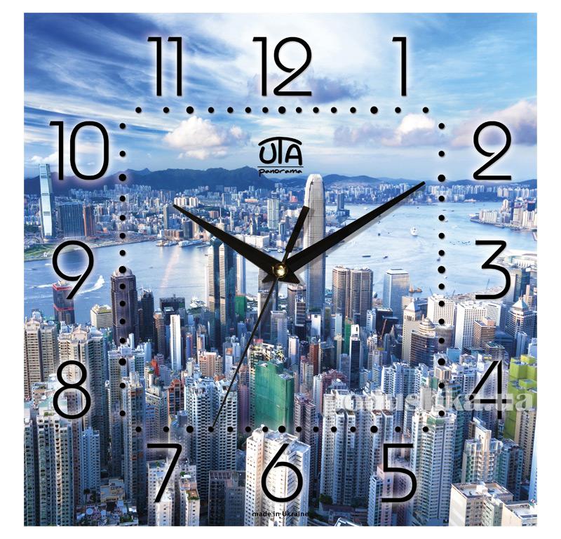 Часы настенные ЮТА Панорама 300Х300Х16мм T-011
