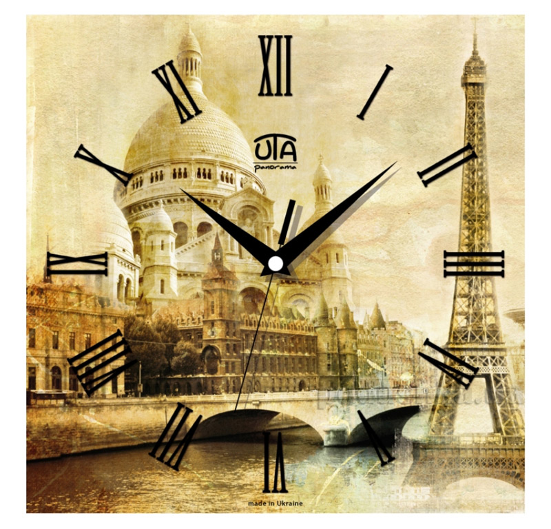Часы настенные ЮТА Панорама 300Х300Х16мм T - 008