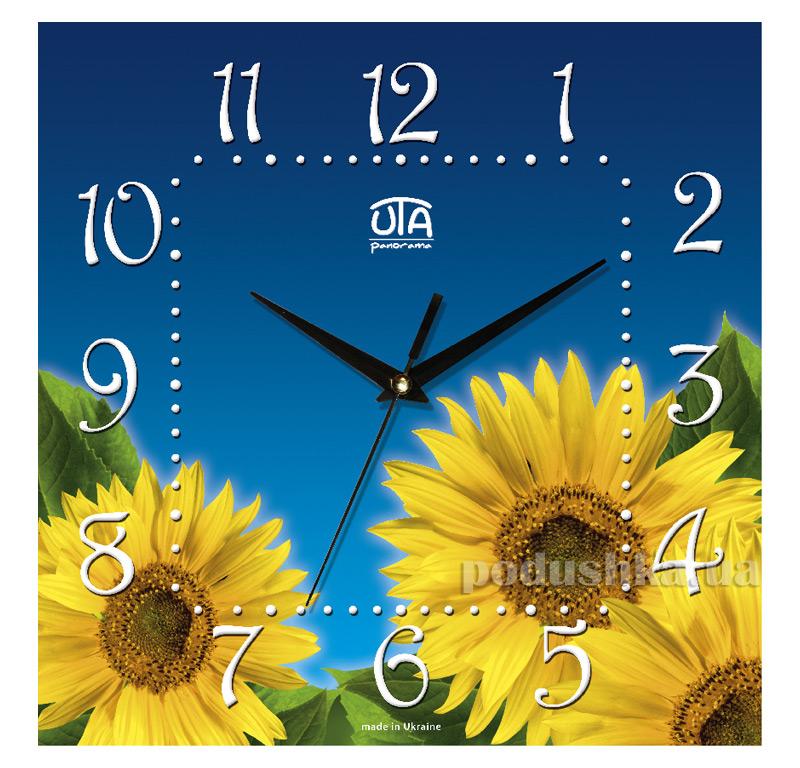 Часы настенные ЮТА Панорама 300Х300Х16мм UA 021
