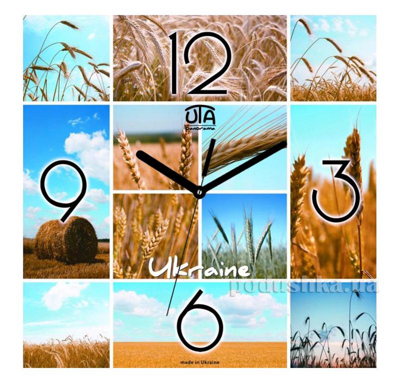 Часы настенные ЮТА Панорама 300Х300Х16мм UA - 002