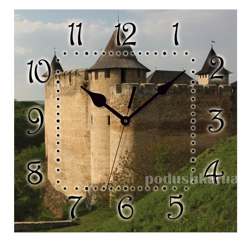 Часы настенные ЮТА Панорама 300Х300Х16мм UA - 009