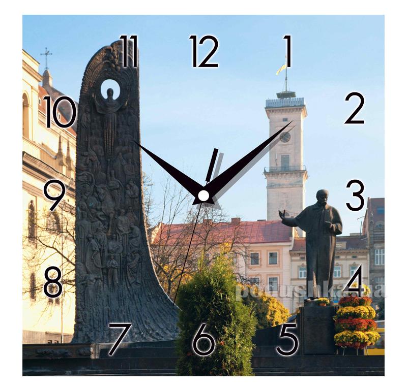 Часы настенные ЮТА Панорама 300Х300Х16мм UA - 010