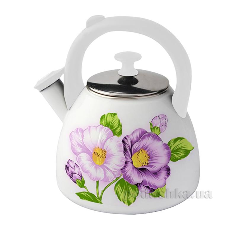 Чайник эмалированный со свистком 2,8 л Kamille 0694С