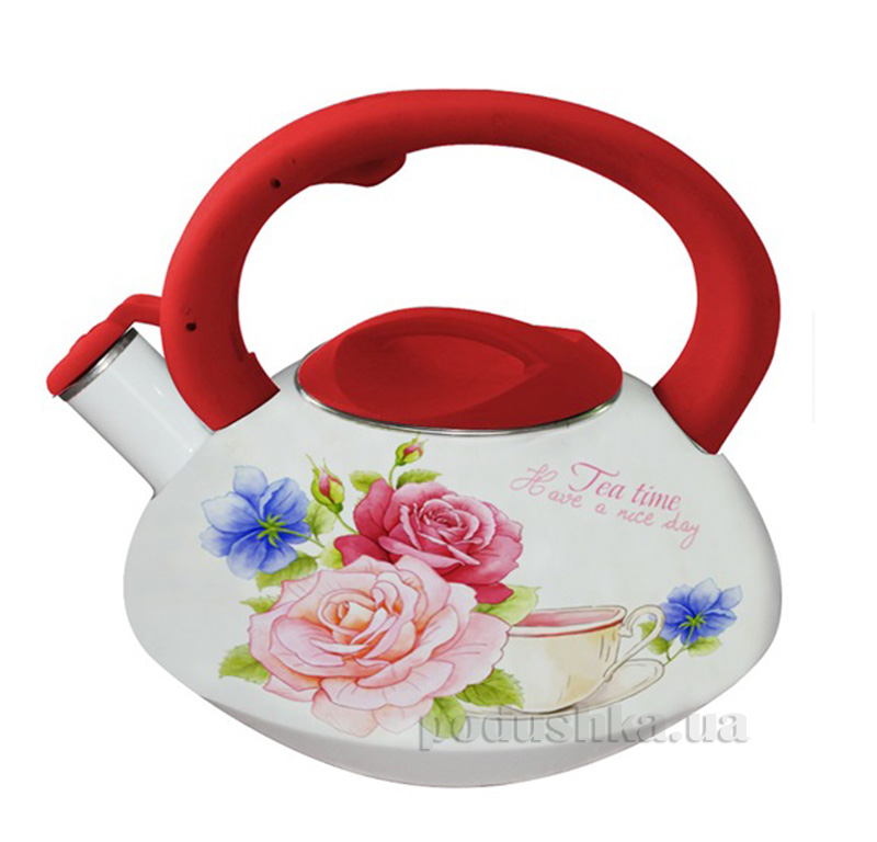 Чайник эмалированный со свистком 3,0 л Kamille 0695А