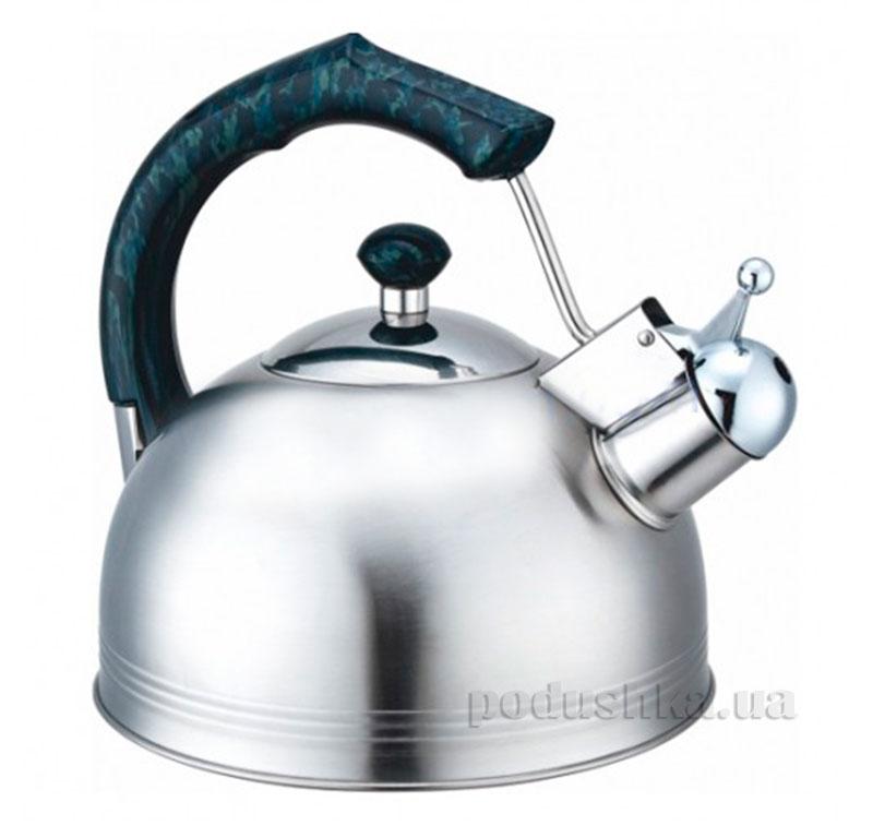 Чайник из нержавеющей стали со свистком 2,3 л Kamille 0675