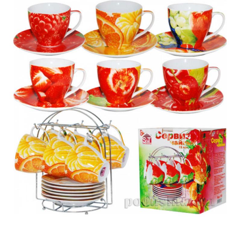 Чайный сервиз 12 предметов Фрукты микс ST 159