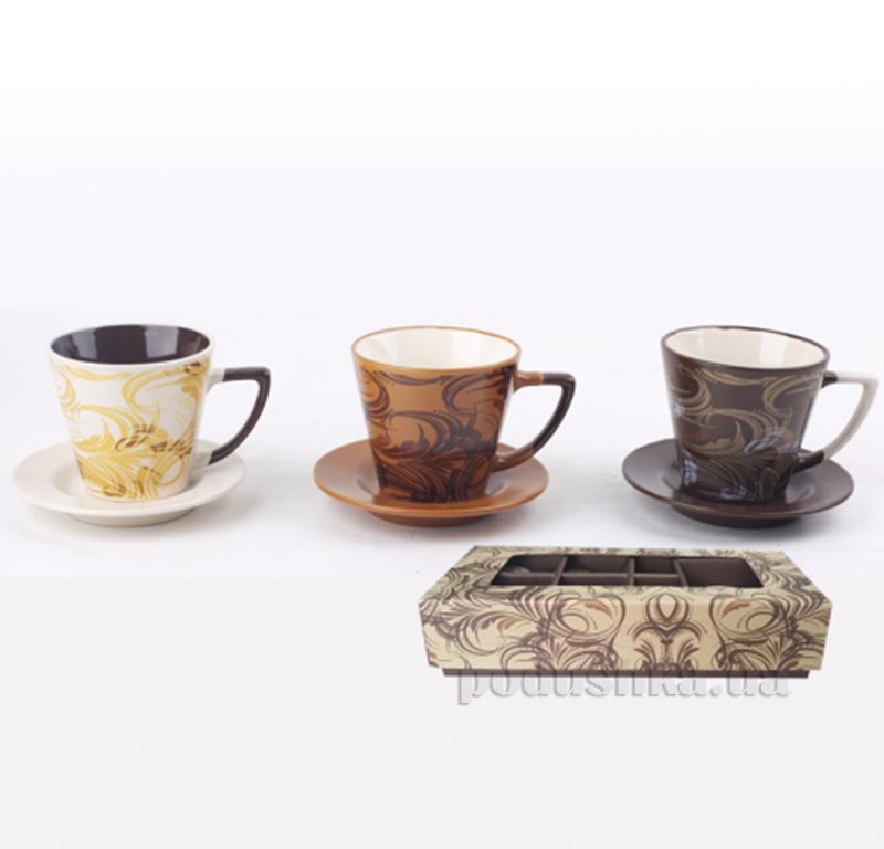Чайный сервиз 12 предметов Узор ST 1517-04
