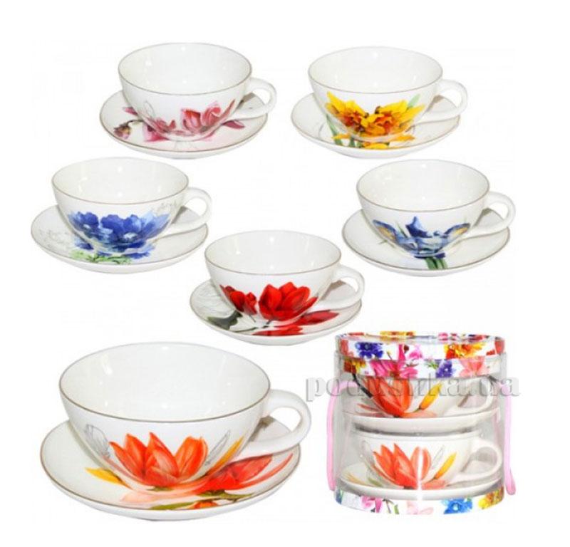 Чайный сервиз 4 предмета Цветы ST 1676