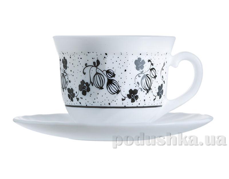 Чайный сервиз Luminarc Alcove black H2446
