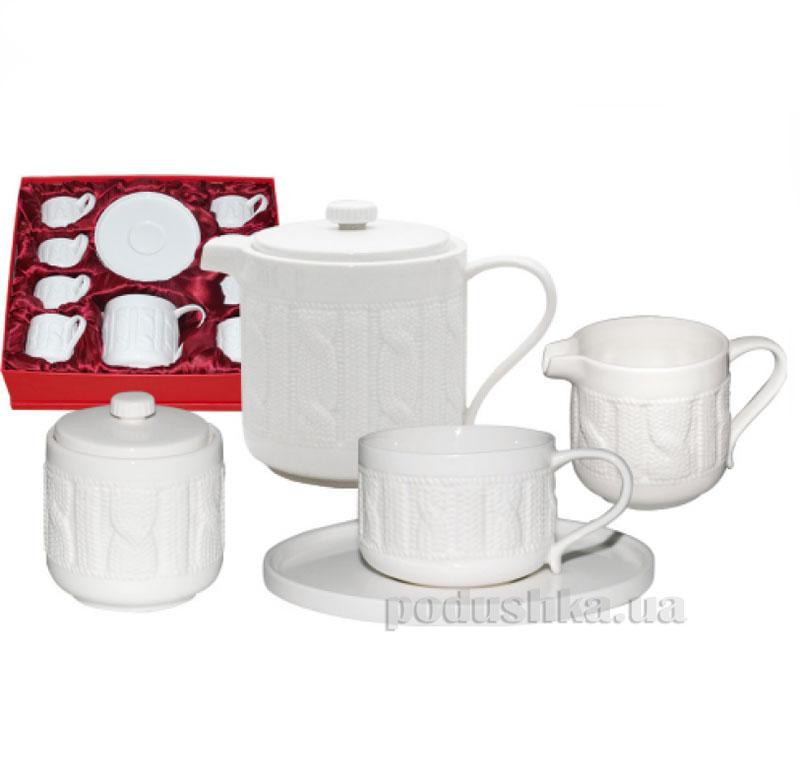 Чайный сервиз 15 предметов Плетеный узор ST 1552
