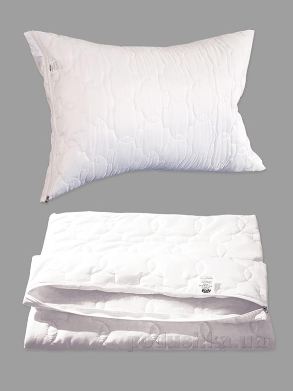 Чехол для подушки на молнии Ярослав белый