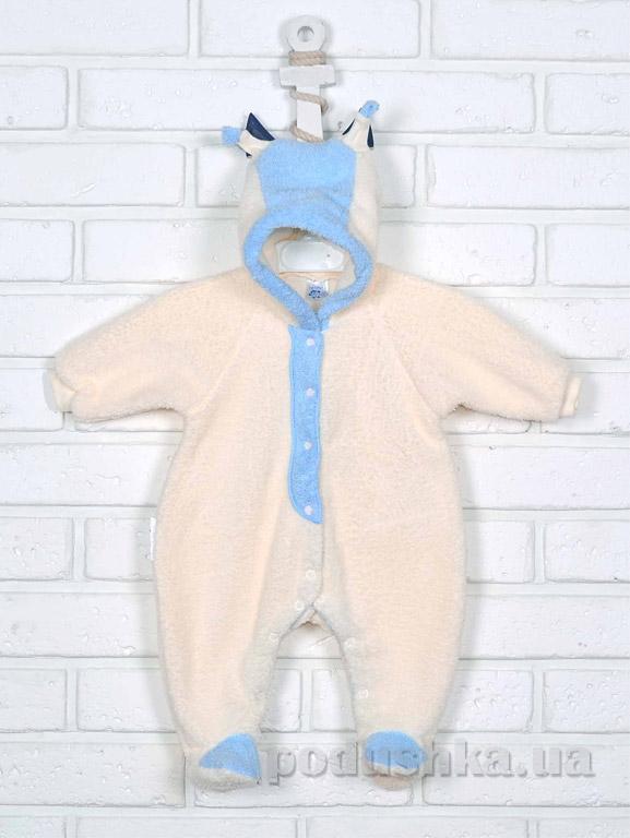 Человечек-комбинезон для новорожденных Татошка 151018 молочныйс голубым