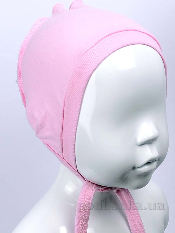 Чепчик для малышей Татошка 05607 интерлок розовый однотонный