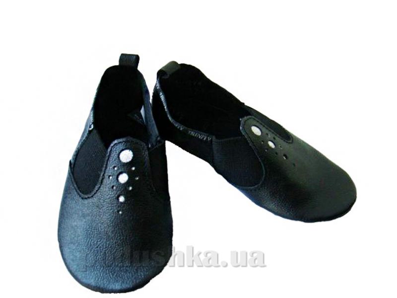 Чешки кожаные М-1а Trinity черный с серебром