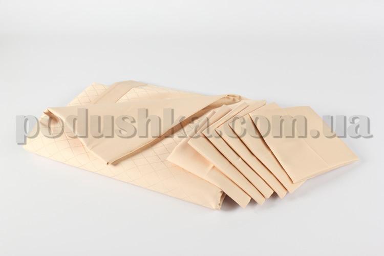Набор с салфетками Люкс кремовый