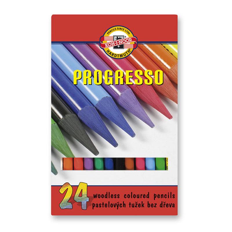 Карандаши цветные бездревесные Progresso 24 шт Koh-i-noor 875802