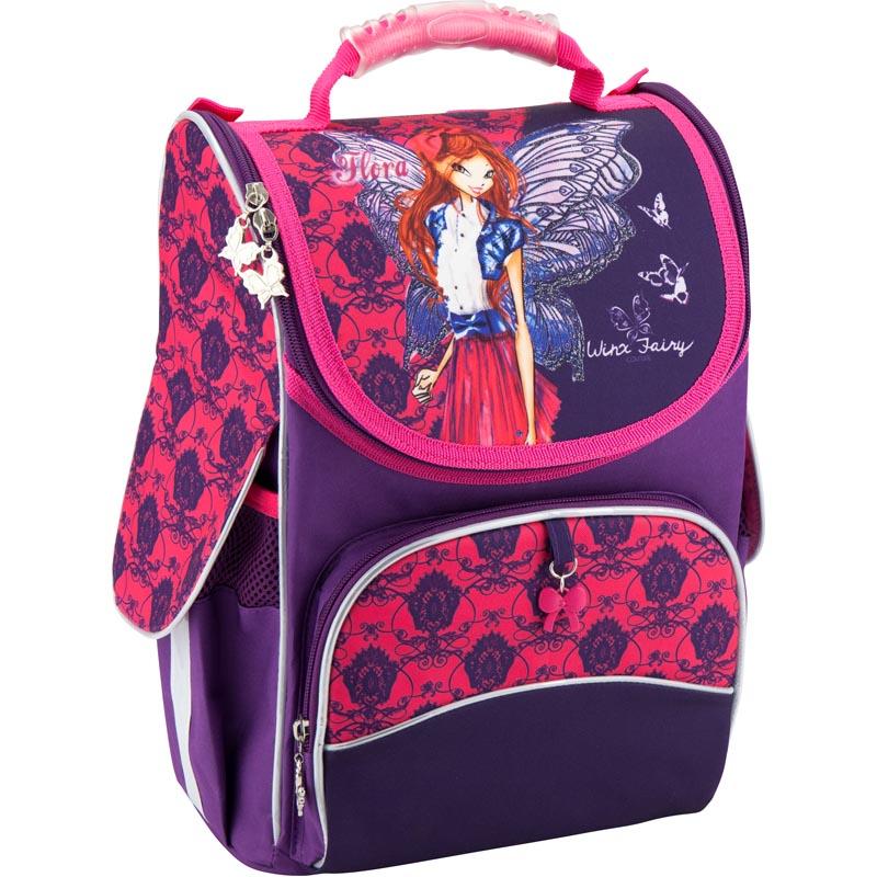 11823de66904 Рюкзак школьный каркасный Kite Winx Fairy couture W18-501S розово-фиолетовый