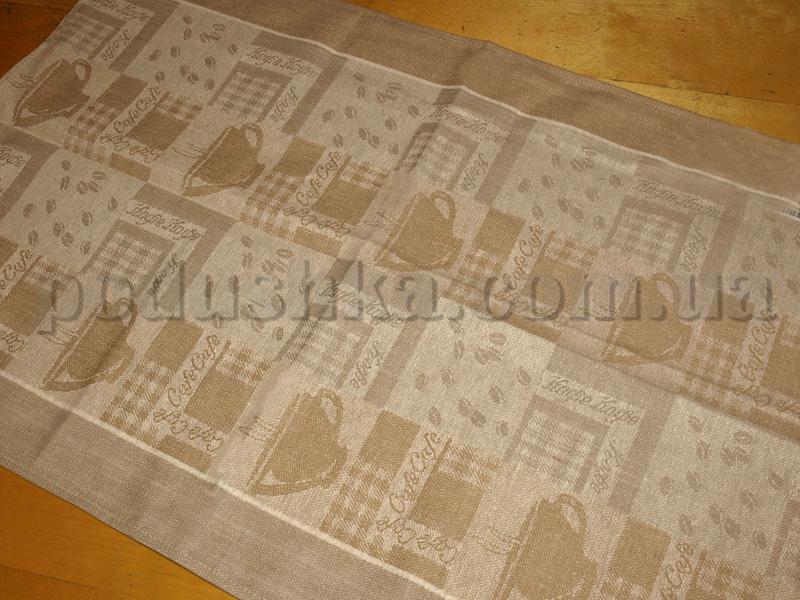 Кухонное полотенце Белорусский лен Кофе светлое