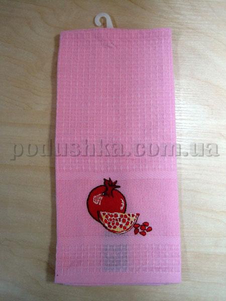 Набор вафельных кухонных полотенец Mariposa 012 Гранат розовый