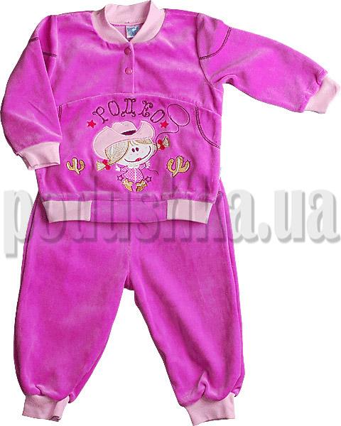 Детский велюровый костюм Ляля 3ТК03В с вышивкой