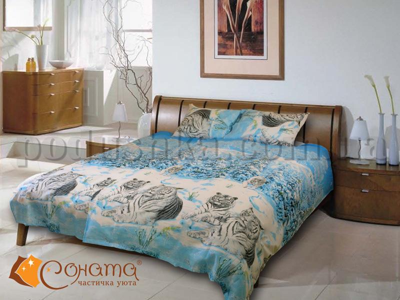 Постельное белье Тигрис голубой СОНАТА
