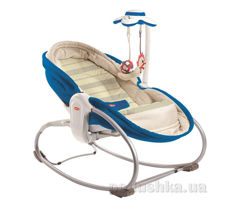 Кресло-кроватка-качалка 3 в 1 Мамина любовь Tiny Love синяя   Tiny Love