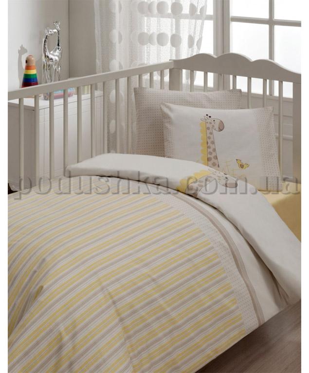 Спальный комплект в кроватку Karaca Jiraffe кремовый - 7 предметов