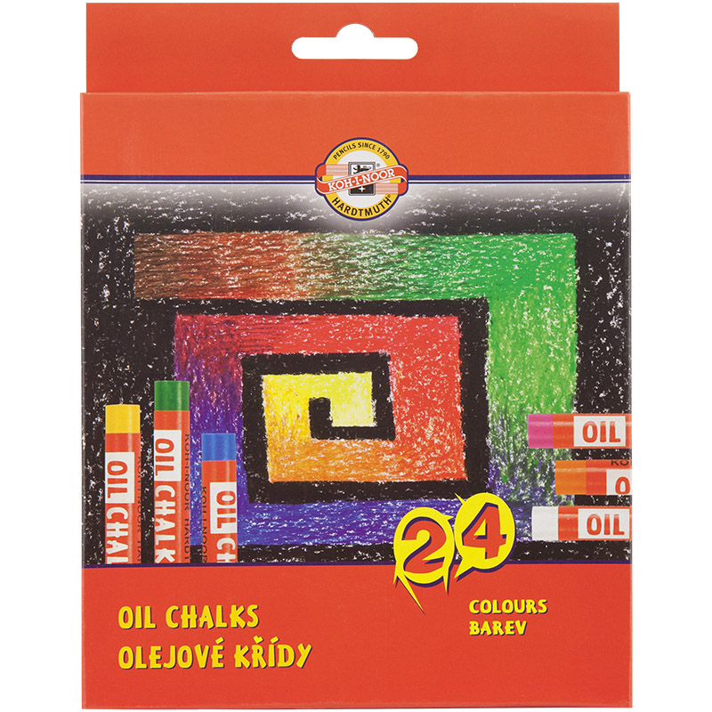 Пастель масляная 24 цвета Koh-i-noor 8314