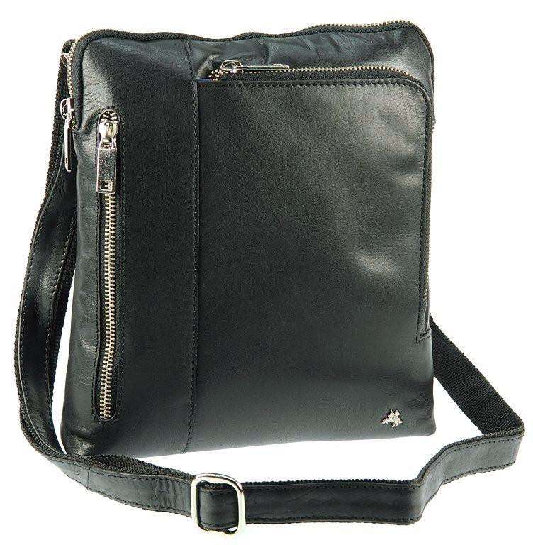 8c544cc2a45c Мужская кожаная сумка Visconti ML-20 - Roy black купить в Киеве ...