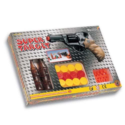 Тир - Super Target (6-зарядный револьвер, 20 пуль, 2 мишени)
