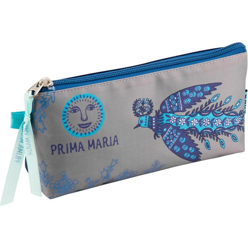 Пенал Kite Prima Maria PM18-668-1 серый, синий
